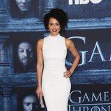 Nathalie Emmanuel en la premiere de la sexta temporada de 'Game of Thrones'