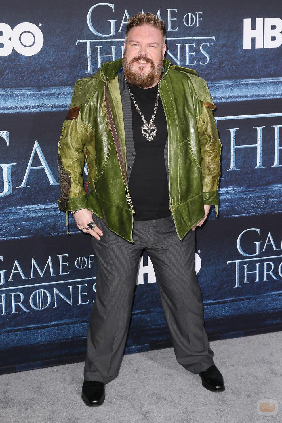 Kristian Nairn en la premiere de la sexta temporada de 'Game of Thrones'