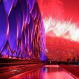 Fuegos artificiales en la inauguración de los JJ.OO de Pekín
