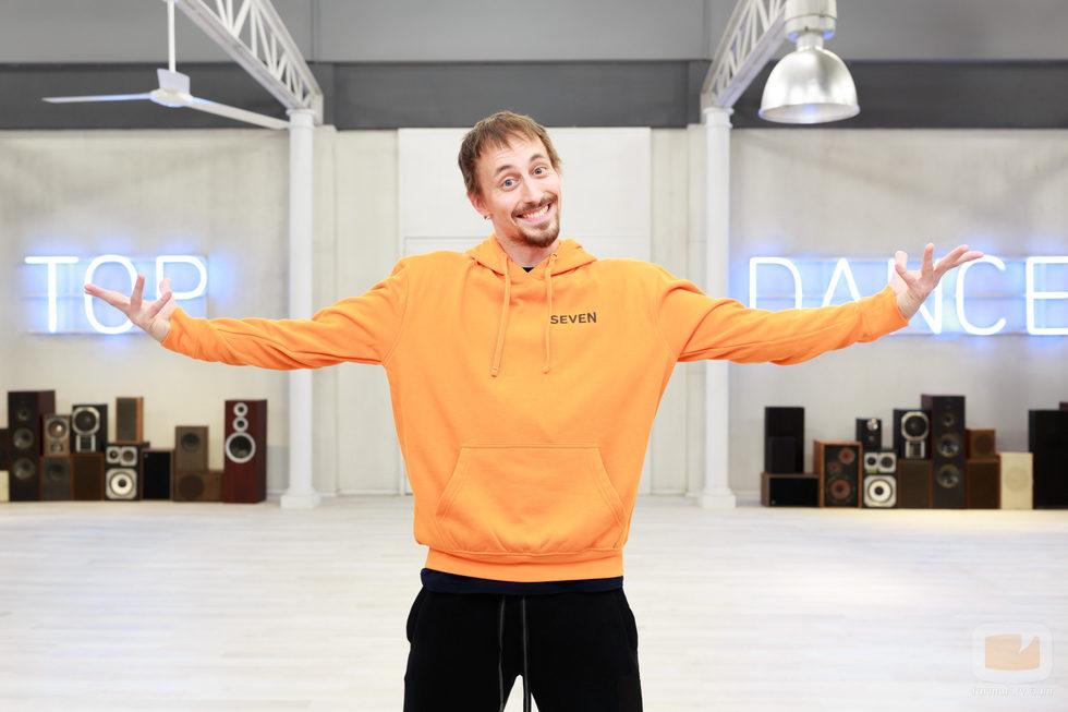 Sergio Fuentes en la academia de 'Top Dance'