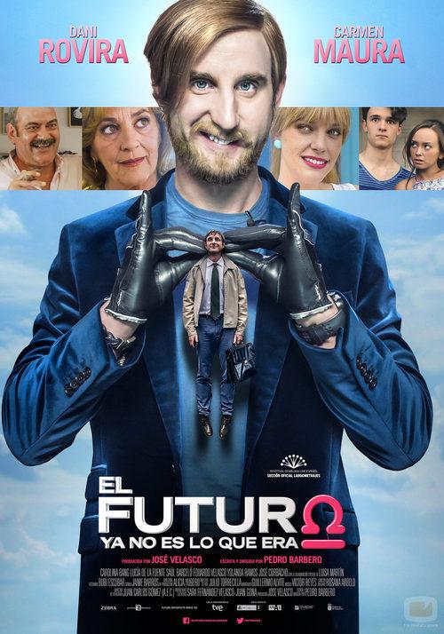 """Dani Rovira en el póster de """"El futuro ya no es lo que era"""""""