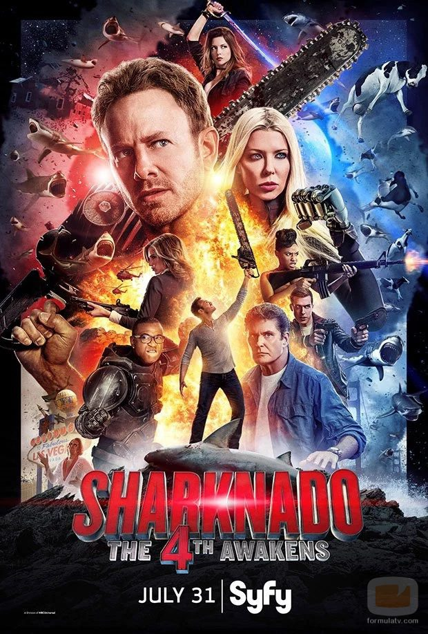 Póster oficial de 'Sharknado: The Fourth Awakens'