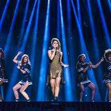 Barei y las coristas al comienzo del segundo ensayo de Eurovisión 2016