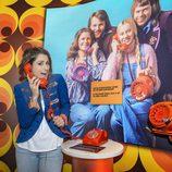 Barei en la exposición de Eurovisión del museo ABBA