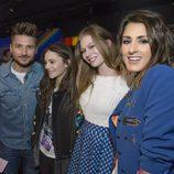 Barei junto a Sergey Lazarev, Zoë y Francesca Michielin