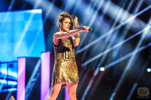 Barei luce brazalete a juego con su vestido en el tercer ensayo de Eurovision 2016