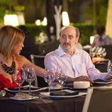 Maite y Enrique cenan juntos