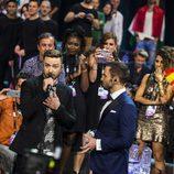 La delegación española no puede controlar sus impulsos ante Justin Timberlake en Eurovisión 2016
