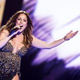 Ira Losco, de Malta, en la final del Festival de Eurovisión 2016