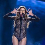 Iveta Mukuchyan, de Armenia, en la final de Eurovisión 2016