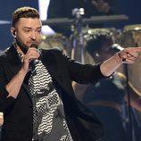 Justin Timberlake en la final de Eurovisión 2016