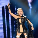 Poli Genova, de Bulgaria, en la final de Eurovisión 2016