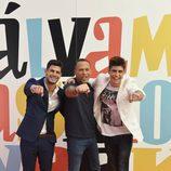Carlos Lozano, Javier Tudela y Alejandro Nieto juntos en la