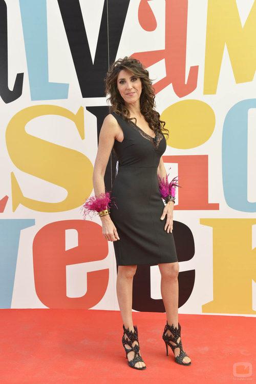 """Paz Padilla en el photocall de la segunda edición de la """"Sálvame Fashion Week"""""""