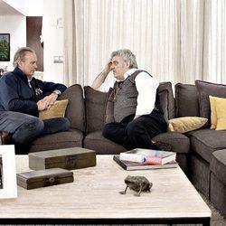 Bertín Osborne entrevista a Millán Salcedo para el programa 'Mi casa es la tuya'