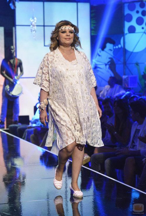 """Terelu Campos en el segundo desfile de la segunda edición de la """"Sálvame Fashion Week"""""""
