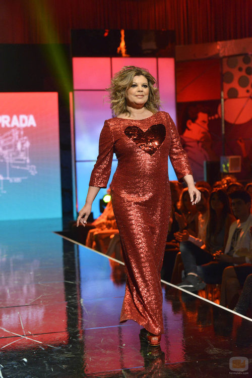 """Terelu Campos en el tercer desfile de la segunda edición de la """"Sálvame Fashion Week"""""""