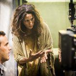 Laura Novoa en el rodaje de 'Supermax'