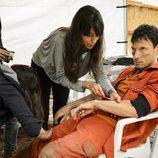 Antonio Birabent en maquillaje y efectos especiales en 'Supermax'