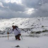 Frank Cuesta investigando la montaña nevada