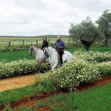 Malú y Bertín pasean a caballo