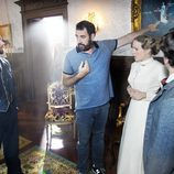 Carles Francino y Esmeralda Moya reciben indicaciones en 'Víctor Ros'