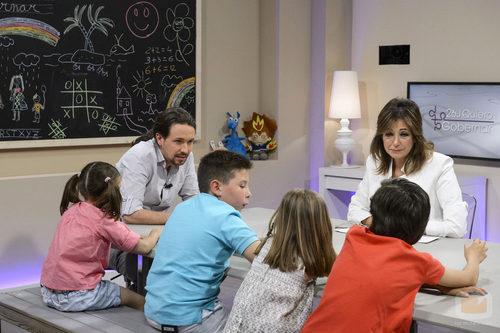 Pablo Iglesias y Ana Rosa Quintana escuchan a los niños en '26J. Quiero gobernar'
