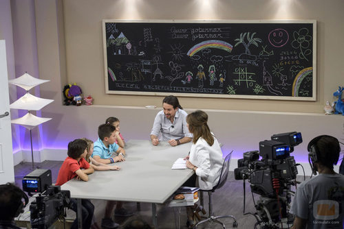 Pablo Iglesias y Ana Rosa Quintana en el primer programa '26J. Quiero gobernar'