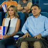 Silvia y Hugo juntos en el cine