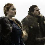 Jon Snow y Sansa Stark juntos antes de la batalla de 'Juego de Tronos'