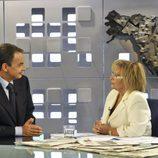 Zapatero y Teresa Campos