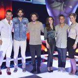 Alejandro Sanz, Malú, Melendi y Manuel Carrasco, Tania Llasera y Jesús Vázquez en 'La Voz 4'