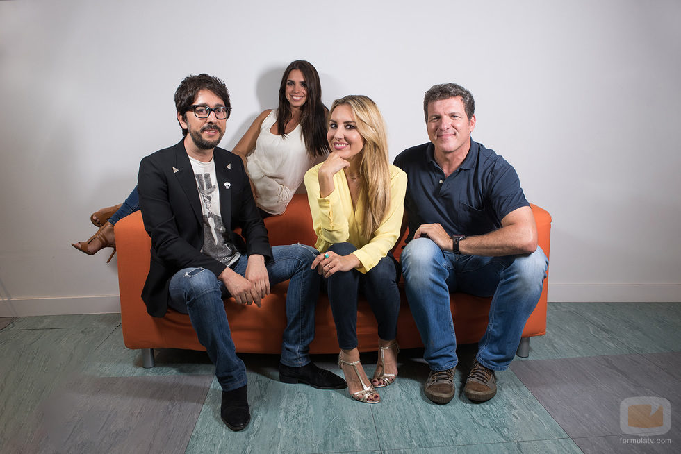 Berta Collado, Mario Picazo, Elena Furiase y Flipy. Colaboradores de 'Poder Canijo'