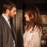 Patricia y Eduardo hablan seriamente en 'La Embajada'