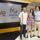 Los especialistas José Luis Villuendas, Almudena Cid y Javier Soriano, comentaristas de los 'Juegos Olímpicos de Río 2016'