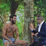 Suso y Jorge Javier durante la entrevista del 'Gran Hermano' en la gala final de 'Supervivientes 2016'