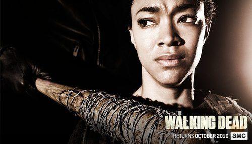 Sasha en la temporada 7 de 'The Walking Dead'