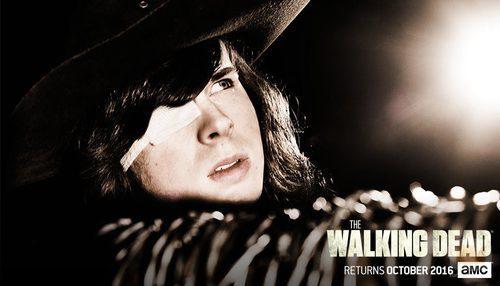 Carl en la temporada 7 de 'The Walking Dead'