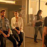 Héctor, Lola y Salva volverán a trabajar juntos en la segunda temporada de 'Mar de plástico'
