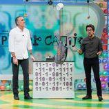 Juan y Medio y Flipy durante una prueba de 'Poder Canijo'