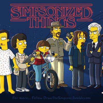 Versión 'simpsonizada' de 'Stranger Things'