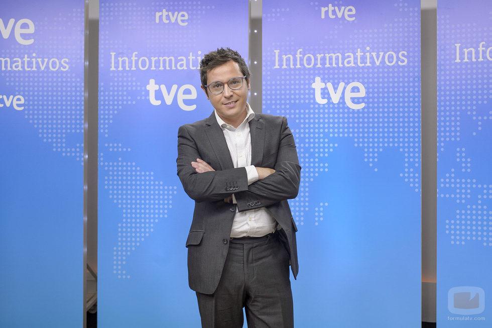 Sergio Martín en la presentación de los informativos 2016-2017 de TVE