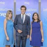 Ana Ibáñez, Diego Losada y Silvia Laplana en la presentación de los informativos 2016-2017 de TVE
