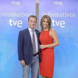 Pilar García y Sergio Sauca en la presentación de los informativos 2016-2017 de TVE