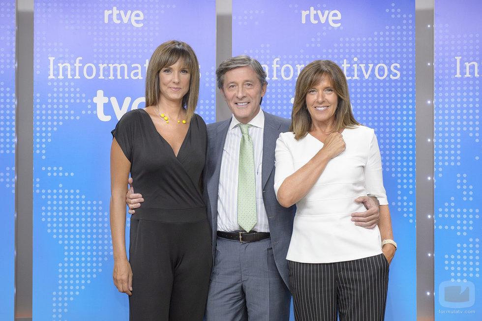 Mónica López, Jesús Álvarez y Ana Blanco en la presentación de informativos 2016-2017 de TVE