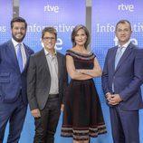 Martín Barreiro, Arsenio Cañada, Raquel Martínez y Pedro Carreño en la presentación de informativos 2016-2017 de TVE