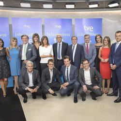 El equipo de los informativos 2016-2017 de TVE