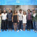 El reparto de 'La sonata del silencio' en su presentación en el FesTVal de Vitoria