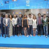 El equipo de 'La sonata del silencio' en su presentación en el FesTVal de Vitoria