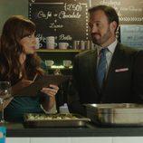 Cata y Damián hablando en 'Olmos y Robles'
